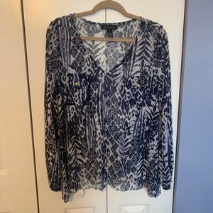 INC Patterned Long Sleeve Shirt